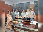 फेफड़ों की जांच के लिए अब सीटी स्कैन या एक्स-रे कराने की जरूरत नहीं, दानदाता ने भेंट किए एडवांस पल्स ऑक्सीमीटर जोधपुर,Jodhpur - Dainik Bhaskar
