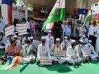 पेट्रोल पम्पों पर कांग्रेस ने जताया रोष; कहा-पेट्रोल, डीजल व रसोई गैस की कीमतों में हुई बढ़ोतरी वापस ले केन्द्र सरकार|अजमेर,Ajmer - Dainik Bhaskar