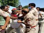 पुलिसकर्मी का पकड़ा गिरेबान, बरसाए मुक्के, की गाली-गलोच, वीडियाे वायरल, राजकार्य में बांधा का मामला दर्ज|पाली,Pali - Dainik Bhaskar