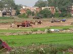 बिलासपुर में माफिया ने बना दिया नदी में रेत घाट; सुबह मीडिया के साथ JCCJ कार्यकर्ता पहुंचे तो ट्रेक्टर छोड़कर भागे ड्राइवर|छत्तीसगढ़,Chhattisgarh - Dainik Bhaskar