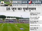 मैच के दूसरे दिन बारिश की सबसे ज्यादा 25% संभावना, पहले 4 दिन के खेल में 54% से 97% क्लाउड कवर|क्रिकेट,Cricket - Dainik Bhaskar