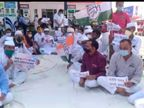 डीजल पेट्रोल के बढ़ते दाम और मंहगाई के विरोध में सड़कों पर उतरे कांग्रेसी, पेट्रोल पंप पर धरना देकर किया विरोध-प्रदर्शन टोंक,Tonk - Dainik Bhaskar