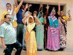 पानी नहीं मिलने से नाराज महिलाओं ने किया प्रदर्शन भरतपुर,Bharatpur - Dainik Bhaskar
