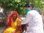 लंबी ना-नुकर के बाद आज आखिरकार जोधपुर में पासपोर्ट देख पाक विस्थापितों के लगाई जा रही है वैक्सीन|जोधपुर,Jodhpur - Dainik Bhaskar