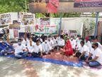 पेट्रोल-डीजल की बढ़ती कीमतों के विरोध में बाड़मेर कांग्रेस कमेटी ने पेट्रोल पंपों पर सांकेतिक धरना देकर किया प्रदर्शन बाड़मेर,Barmer - Dainik Bhaskar
