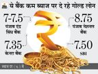 SBI और बैंक ऑफ इंडिया सहित कई बैंक 8% से भी कम ब्याज पर दे रहे गोल्ड लोन, खराब सिबिल स्काेर पर भी मिलेगा कर्ज|बिजनेस,Business - Money Bhaskar