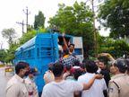 SP कार्यालय का घेराव करने जा रहे 51 NSUI कार्यकर्ताओं को पुलिस ने किया गिरफ्तार, फिर पुलिस लाइन में ले जाकर मुचकुले पर छोड़ा|रीवा,Rewa - Money Bhaskar