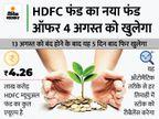 HDFC म्यूचुअल फंड ने लांच किया निफ्टी 50 इक्वल वेट इंडेक्स फंड, 50 टॉप कंपनियों में करेगा निवेश बिजनेस,Business - Money Bhaskar
