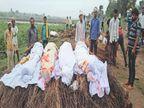 कारम तट पर 1 चिता पर 4 भाइयों का अंतिम संस्कार, महाराष्ट्र में हाईवे पर जानलेवा हादसे में गई थी जान खरगोन,Khargone - Money Bhaskar