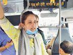 शहर में ऑपरेशन सेफर व्हील्स की शुरुआत हुई, निर्भया स्क्वॉड की प्रभारी ने सिटी बसों में सफर किया|जयपुर,Jaipur - Money Bhaskar