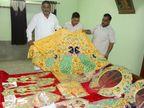 जन्माष्टमी पर पीताम्बर पोशाक धारण करेंगे भगवान श्री कृष्ण , श्री कृष्ण जन्मस्थान पर भगवान की पोशाक बनकर हुई तैयार मथुरा,Mathura - Money Bhaskar
