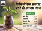 बंधन और इंडसइंड सहित कई बैंक सेविंग्स अकाउंट पर दे रहे 6% तक ब्याज, यहां देखें कहां मिल रहा कितना ब्याज|बिजनेस,Business - Money Bhaskar