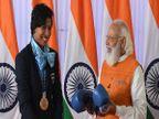 PM मोदी को मिले उपहारों की नीलामी में लवलीना के ग्लव्स और सिंधु के रैकेट ने मचाई धूम, अब तक 13 करोड़ से ऊपर की लगी बोली वुमन,Women - Money Bhaskar