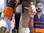 मेरे बकरे खास ब्रांड की देसी शराब पीते हैं... कहते हुए कोल्ड ड्रिंक्स की बोतल में पैग बनाकर मुंह में भर दी; बदमाश पर पहले से दर्ज हैं हनुमानगंज में 5 केस|भोपाल,Bhopal - Money Bhaskar