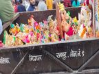 निगम कर्मचारी ट्रक में भरकर लाए और महादेव घाट कुंड में फेंक दी, महापौर के पहुंचने पर नाराज लोगों ने की नारेबाजी|रायपुर,Raipur - Money Bhaskar