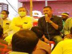 बिलासपुर सिम्स में 27 दिन से चल रही हड़ताल; मनाने पहुंचे MLA से कहा- लिखित में दें कि कब रेगुलर करेंगे|बिलासपुर,Bilaspur - Money Bhaskar