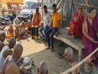 पुरखों के श्राद्ध के लिए दूर-दूर से पहुंचे परिजन, संगम में किया स्नान, मुंडन के बाद श्राद्ध कर्म में हुए शामिल|प्रयागराज (इलाहाबाद),Prayagraj (Allahabad) - Money Bhaskar