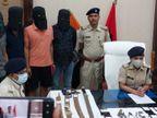 पुलिस की छापेमारी में हथियार समेत 5 मोबाइल बरामद, 3 बाइक भी जब्त, 4 तलवार भी मिली बिहार,Bihar - Money Bhaskar