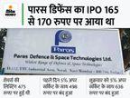 पारस डिफेंस का शेयर हर दिन अपर सर्किट के साथ बंद, IPO के बाद किसी कंपनी में ऐसा पहली बार हुआ|बिजनेस,Business - Money Bhaskar