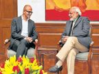 मायक्रोसॉफ्टचे सीईओ सत्या नाडेला मोदींना भेटले, डिजिटल इंडियात मायक्रोसॉफ्ट भागीदार देश,National - Divya Marathi