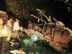 PHOTOS: नांदेडमध्ये वऱ्हाडाच्या बसला भीषण अपघात, 9 प्रवासी जागीच ठार, 6 गंभीर  - Divya Marathi