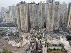 PHOTOS: चीनमध्ये 5 मिनिटांमध्ये बहुमजली इमारती झाली जमीनदोस्त विदेश,International - Divya Marathi