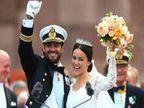 स्वीडनच्या राजकुमाराचा राजेशाही विवाह, टिव्ही मॉडेलशी शुभमंगल विदेश,International - Divya Marathi