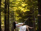 सावधान....पोल डान्सर हवेत तरंगते, पाहा वेगळा व्यायाम प्रकार|विदेश,International - Divya Marathi