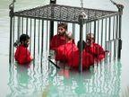 ISIS ने गाठला क्रौर्याचा कळस, कैद्यांच्या गळ्यांत स्फोटके लावून उडवले|विदेश,International - Divya Marathi