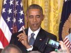 बराक ओबामा महिलेवर भडकले, म्हणाले \'शेम ऑन यू\' विदेश,International - Divya Marathi