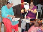 दादी असो किंवा बुआ, प्रेक्षकांना खळखळून हसवण्यासाठी असे तयार होतात \'कॉमेडी नाइट्स\'चे पात्र टीव्ही,TV - Divya Marathi