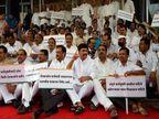विधानभवनात विरोधकांचे \'भजन\' आंदोलन, सरकारकडून मीडिया कव्हरेजला बंदी मुंबई,Mumbai - Divya Marathi