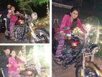 गीताने ड्राइव्ह केली रॉयल बाइक तर मागच्या सीटवर बसला होता भज्जी, शेयर केले PHOTO स्पोर्ट्स,Sports - Divya Marathi