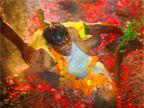 अग्निपरीक्षा देताना पित्याचे पाय घसरले, मुलीसह विस्तवावर कोसळला|देश,National - Divya Marathi