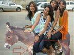 FUNNY- \'भाऊ\'च्या बाईकवर बसली करीना, तर कतरीनाच्या कमरेत \'दादां\'चा हात  - Divya Marathi