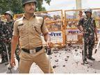 संतापाच्या उद्रेकाचा जिल्हाभरात वणवा, पाेलिस अधीक्षकांसह ३४ कर्मचारी जखमी|नाशिक,Nashik - Divya Marathi