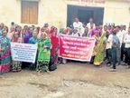 विक्रेत्यांनाे, गावात दारू विक्री कराल तर गाढवावरून काढू 'धिंड'; महिलांनी वेशीवरच झळकवले बॅनर|औरंगाबाद,Aurangabad - Divya Marathi
