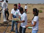 कर्नाटक सीमेचा पाणी प्रश्न मिटवण्यास टीम 'पळशीची पीटी' चा सहभाग, कलाकारांनी केले श्रमदान  - Divya Marathi
