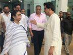 मनसे अध्यक्ष राज ठाकरेंनी घेतली पश्मिम बंगालच्या मुख्यमंत्री ममता बॅनर्जींची भेट, पाऊण तास EVM वर झाली चर्चा  - Divya Marathi
