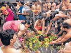 घृष्णेश्वर : खबरदारी म्हणून बॉम्बशोधक पथकाकडून मंदिराची तपासणी|औरंगाबाद,Aurangabad - Divya Marathi