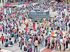 खोऱ्यात परप्रांतीय मजुरांना मारहाण, ५ हजार मजूर जम्मूत आले; कलम ३७० हटवल्याच्या तिसऱ्या दिवशी जम्मूत शांतता कायम| - Divya Marathi