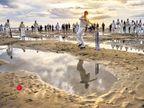 पावसाळ्यात अॅशेस झाल्याने इंग्लंडमध्ये अधिक लोकप्रिय झाले बीच क्रिकेट; महिला-पुरुष एकाच संघात; पावसातदेखील सामना राहताे सुरू  - Divya Marathi