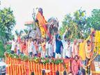पैठणला छत्रपती शिवाजी महाराजांच्या अश्वारूढ पुतळ्याची भव्य मिरवणूक|औरंगाबाद,Aurangabad - Divya Marathi