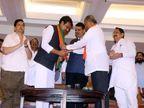 हर्षवर्धन पाटील, गणेश नाईकांच्या हाती भाजपचा झेंडा| - Divya Marathi
