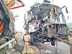 उभ्या ट्रकवर ट्रॅव्हल्स धडकली; ६ ठार, २० जखमी  - Divya Marathi
