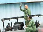 केंद्रीय मंत्री राजनाथ सिंह यांची तेजसमधून भरारी, उड्डाणानंतर व्यक्त केला आपला अनुभव| - Divya Marathi