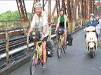 दाेन मित्रांनी केला सायकलवरून २० हजार किमीचा प्रवास; २३० दिवसांत २७ देशांतून गाठले वर्ल्डकपचे स्टेडियम| - Divya Marathi