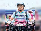 वयाच्या ७० व्या वर्षी ११ हजार फूट उंचीवर सायकल स्पर्धेत सहभाग; मुलाच्या मृत्यूच्या वेदनेतून बाहेर पडण्यासाठी स्पर्धेचा घेतला आधार| - Divya Marathi