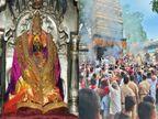धार्मिक विधीनंतर तुळजापुरात नवरात्रोत्सवाची सांगता; पहाटे सीमोल्लंघन, त्यानंतर मंचकी निद्रेस प्रारंभ|औरंगाबाद,Aurangabad - Divya Marathi