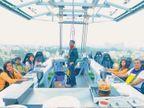 नोएडात उघडले फ्लाय रेस्तरां १६० फूट उंचीवर जेवण करतात ग्राहक| - Divya Marathi